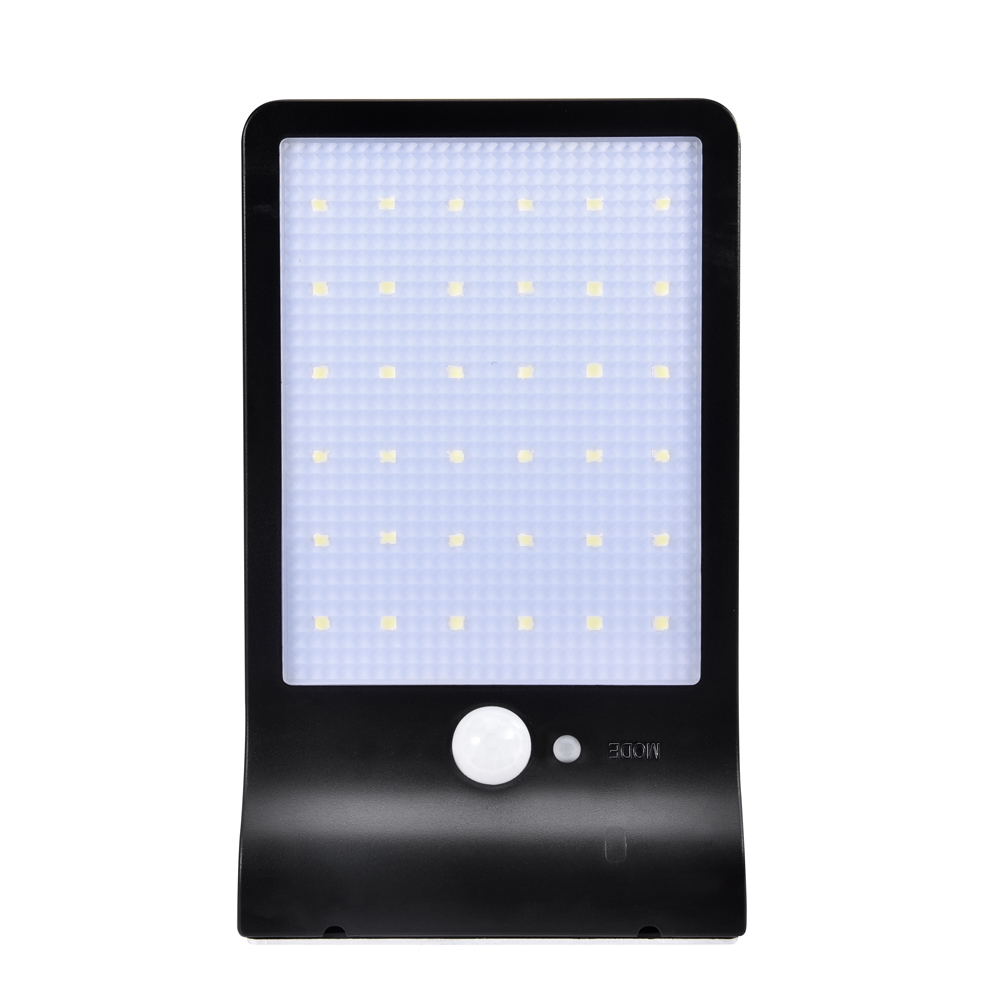36LEDs Solar Powered Human Body Induction Wall Light for Outdoor black_(ME0006302)