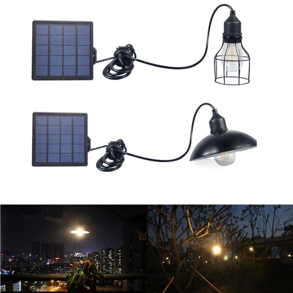 LED Waterproof Solar Power Pendant Light for Outdoor Courtyard Garden Corridor E27 Bulb White light (including light source)_Lantern