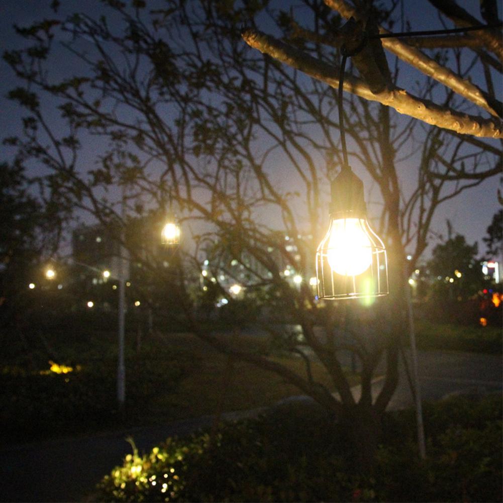 LED Waterproof Solar Power Pendant Light for Outdoor Courtyard Garden Corridor E27 Bulb Warm white (including light source)_Lantern