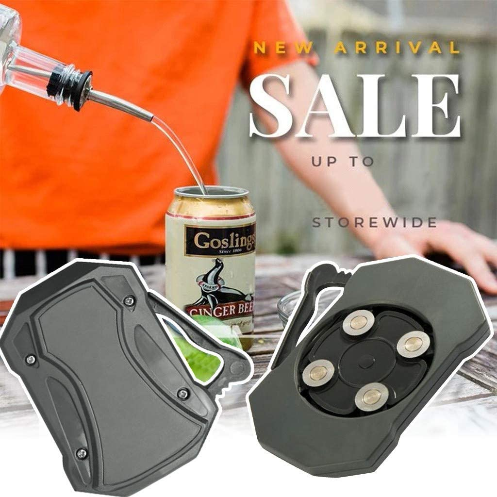 Topless Can Opener Bar Tool Manual Smooth Edge No Sharping Edges Leaving Stainless Steel for 8-19 oz Beverage Cans  gray