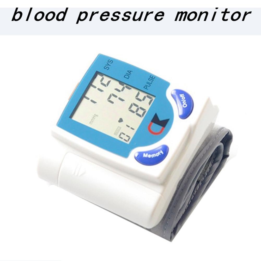 Digital Fast Accurate Wrist Blood Pressure Monitor Portable Electric LCD Sphygmomanometer white