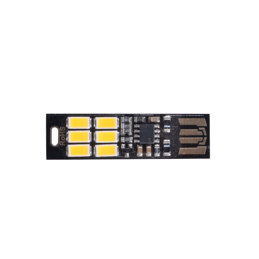 USB Power 6 LED Beads Night Light Touch Control Dimmable White Yellow Light Mini Lamp Yellow Light