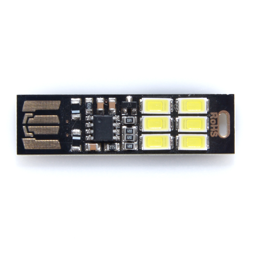 USB Power 6 LED Beads Night Light Touch Control Dimmable White Yellow Light Mini Lamp White Light