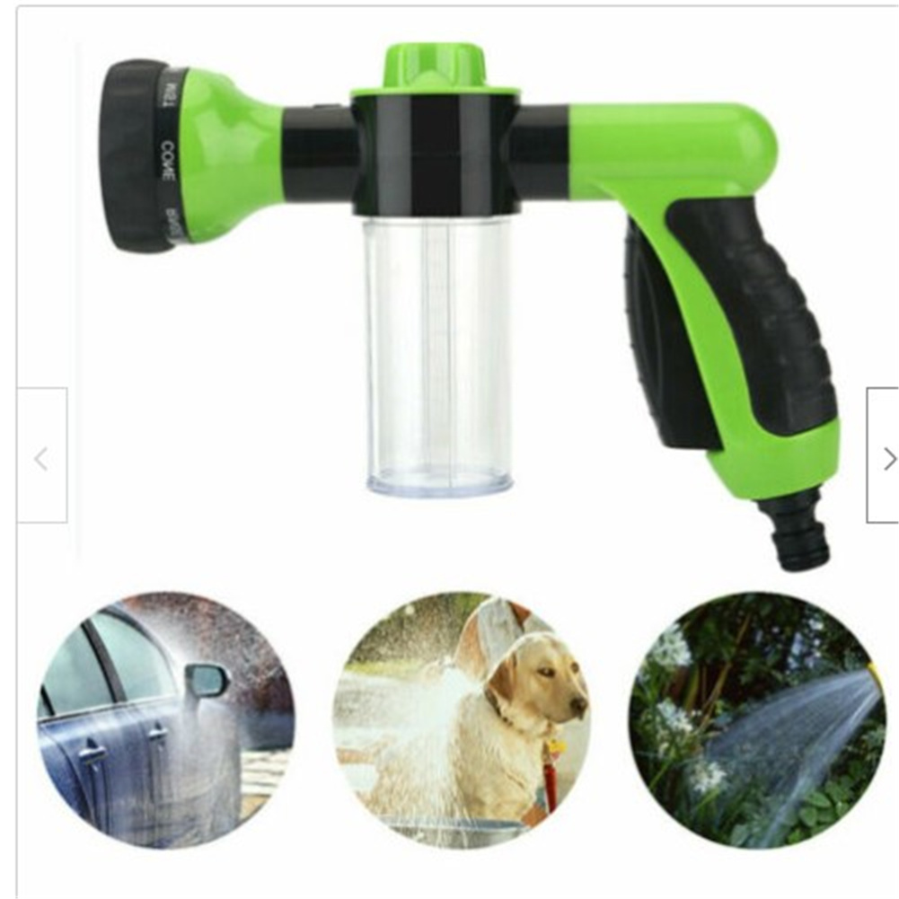 High Pressure Sprayer Hose Nozzle Multifunctional  Washer For Car Pet green