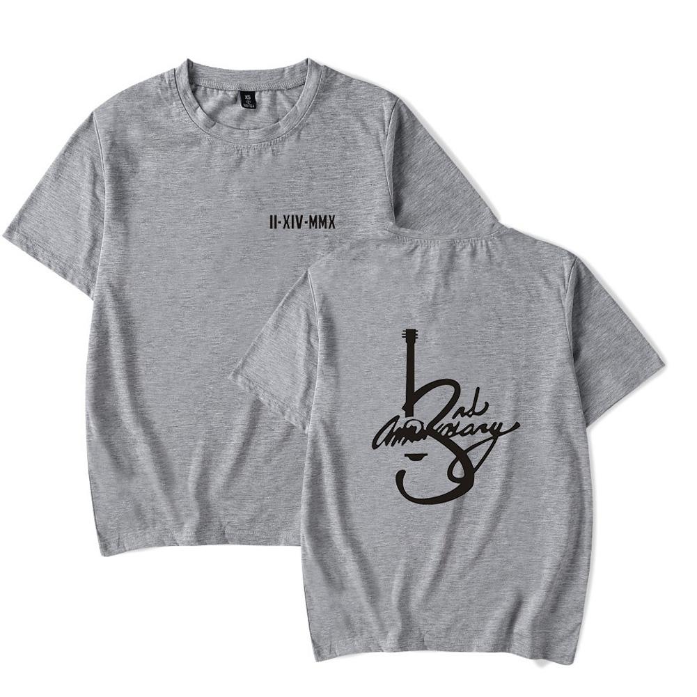 Men Women Summer Seventeen Korean Group Casual Loose T-shirt A gray_S