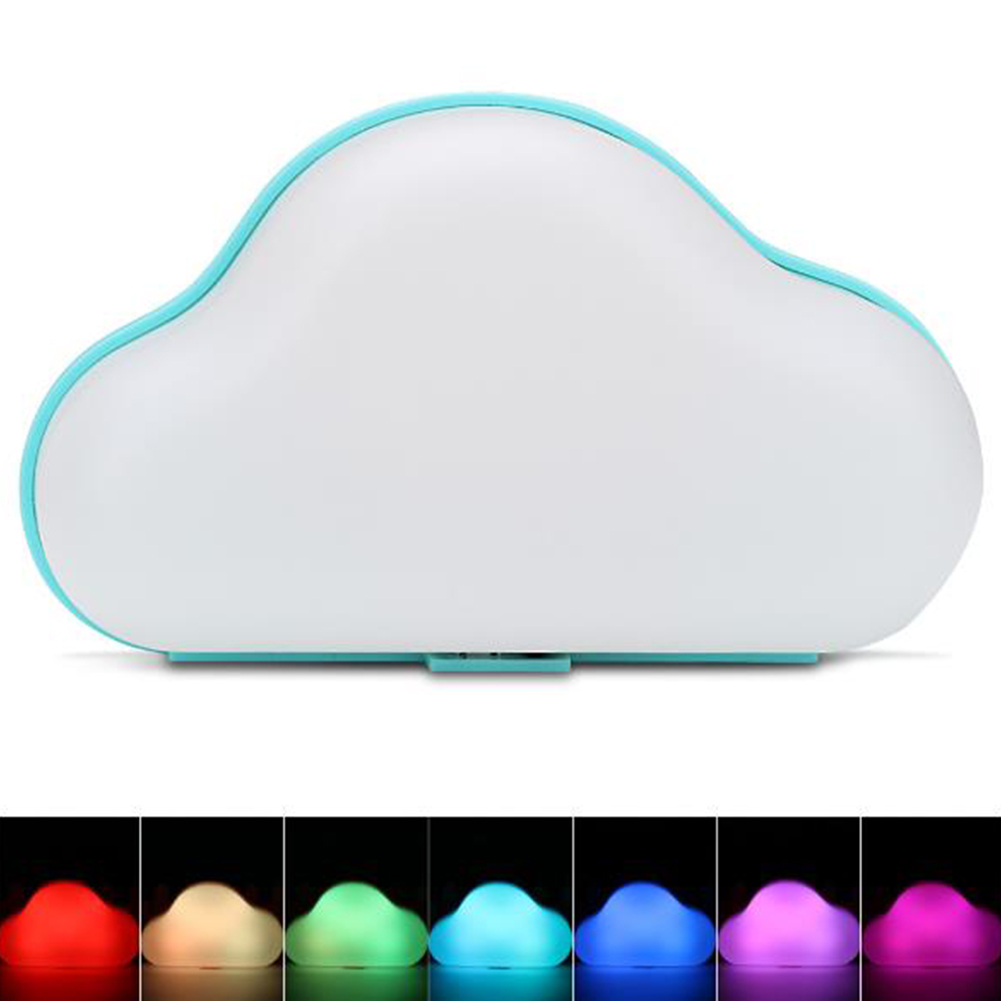 Cloud LED Night Light 7-color Room Emergency Lamp for Corridor Bedroom Garage USB/AA Battery Dual Power Supply Pink