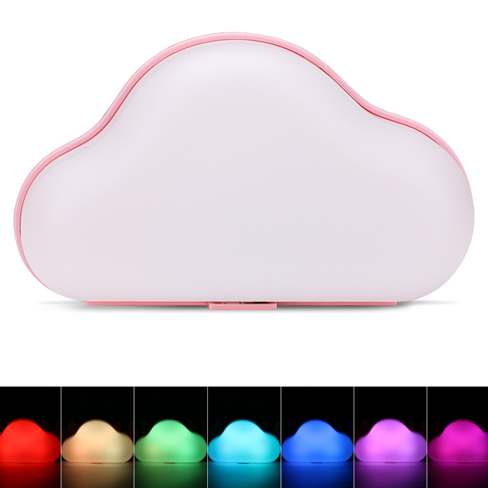 Cloud LED Night Light 7-color Room Emergency Lamp for Corridor Bedroom Garage USB/AA Battery Dual Power Supply blue