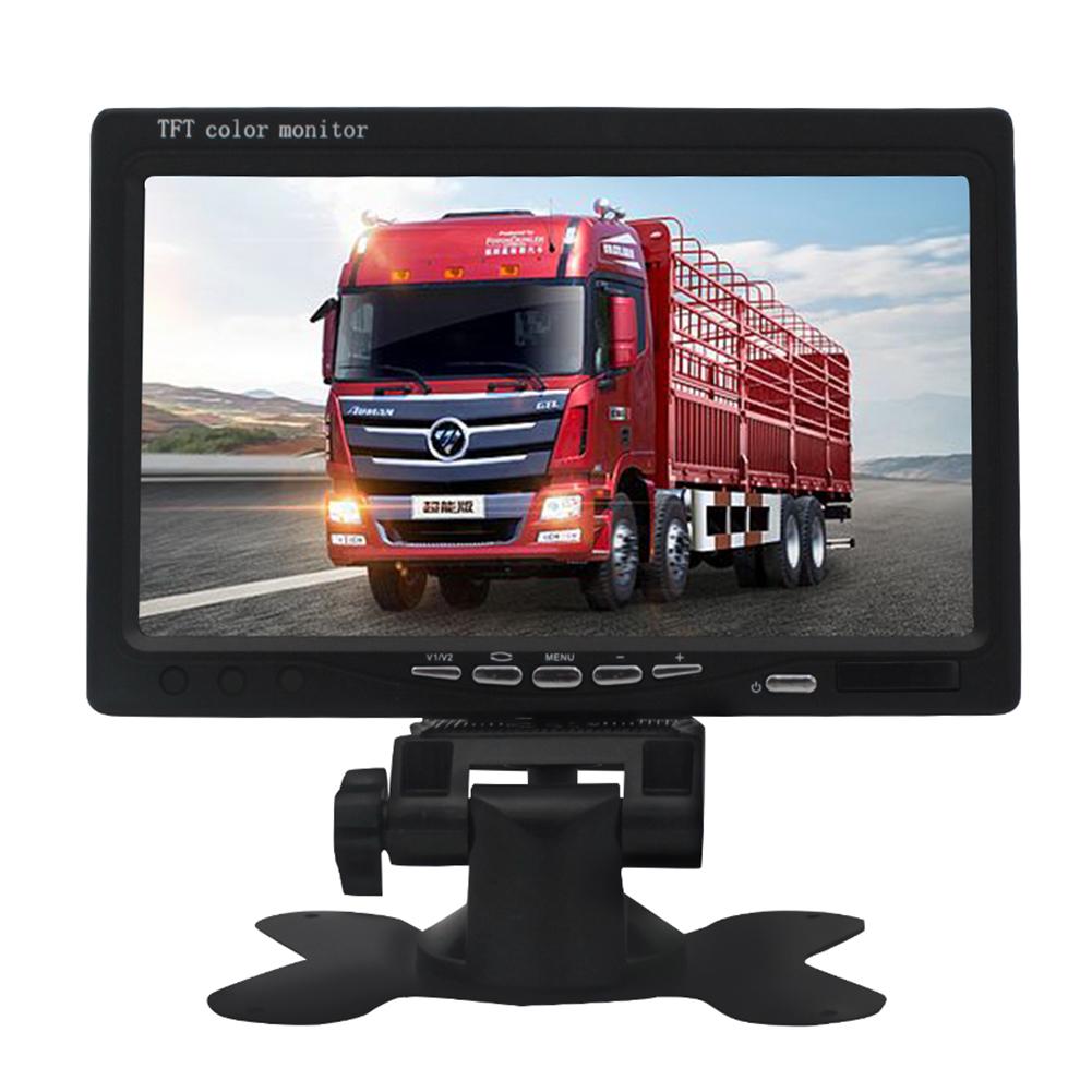 7 Inches AHD HD Smart Vehicle Display Screen Monitor Screen Car Camera Reversing Radar black