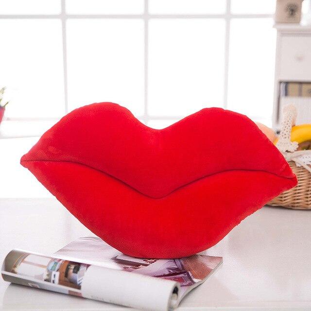 Plush Mouth Toy Stuffed Soft Comfortable Lips Shape Pillow Home Sofa Decorative Cushion Gift For Girl FJ88