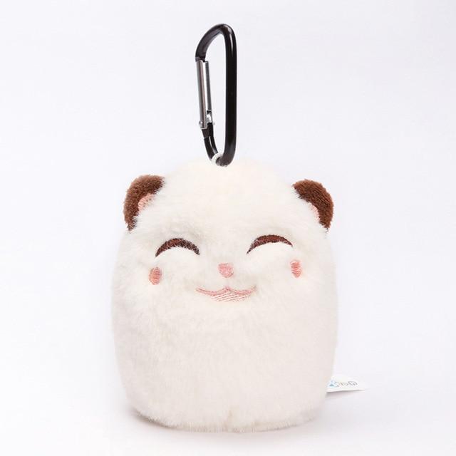 12cm Grouchy Kitten Cat Plush Clip Keychain Mini Charm Bag Pendants Angry Cat Soft Stuffed Animal Toys Plushie Throw