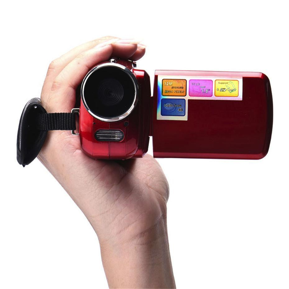 Handheld Home Digital Video Camera Camcorder DV 16x Digital Zoom HD 1080P Night Vision Recording Camera red