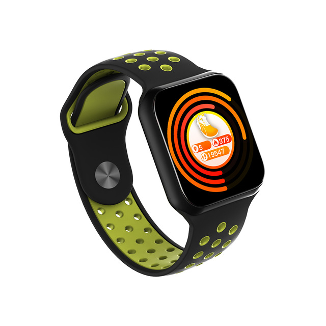 F8 Smartwatch Multifunctional Waterproof Blood Pressure Sleep Monitoring Smart Watch Black green