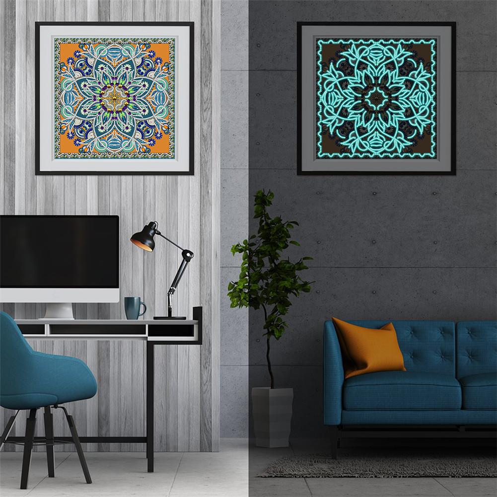 5D DIY Diamond Painting Luminous Special Shape Glow Diamond Painting Cross Stitch Wall Home Decor YGSMT30