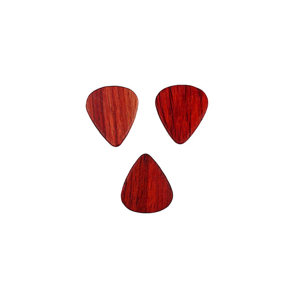 3pcs Guitar Picks  Rosewood Ukulele Picks Set String Instruments Accessories