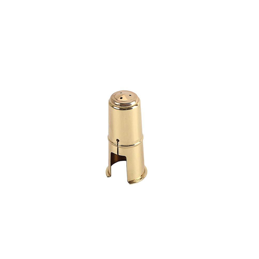 1pcs B Soprano Saxophone Cap Bakelite Flute Head Metal Protective Cap Hat Brass Hat Copper Protective Cap Golden