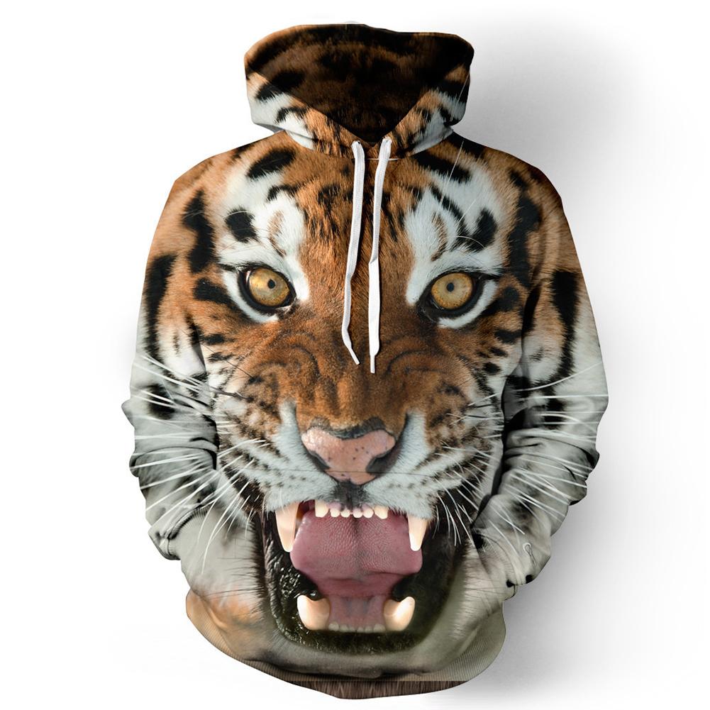 Halloween 3D Printed Tiger Hoodie Pullover