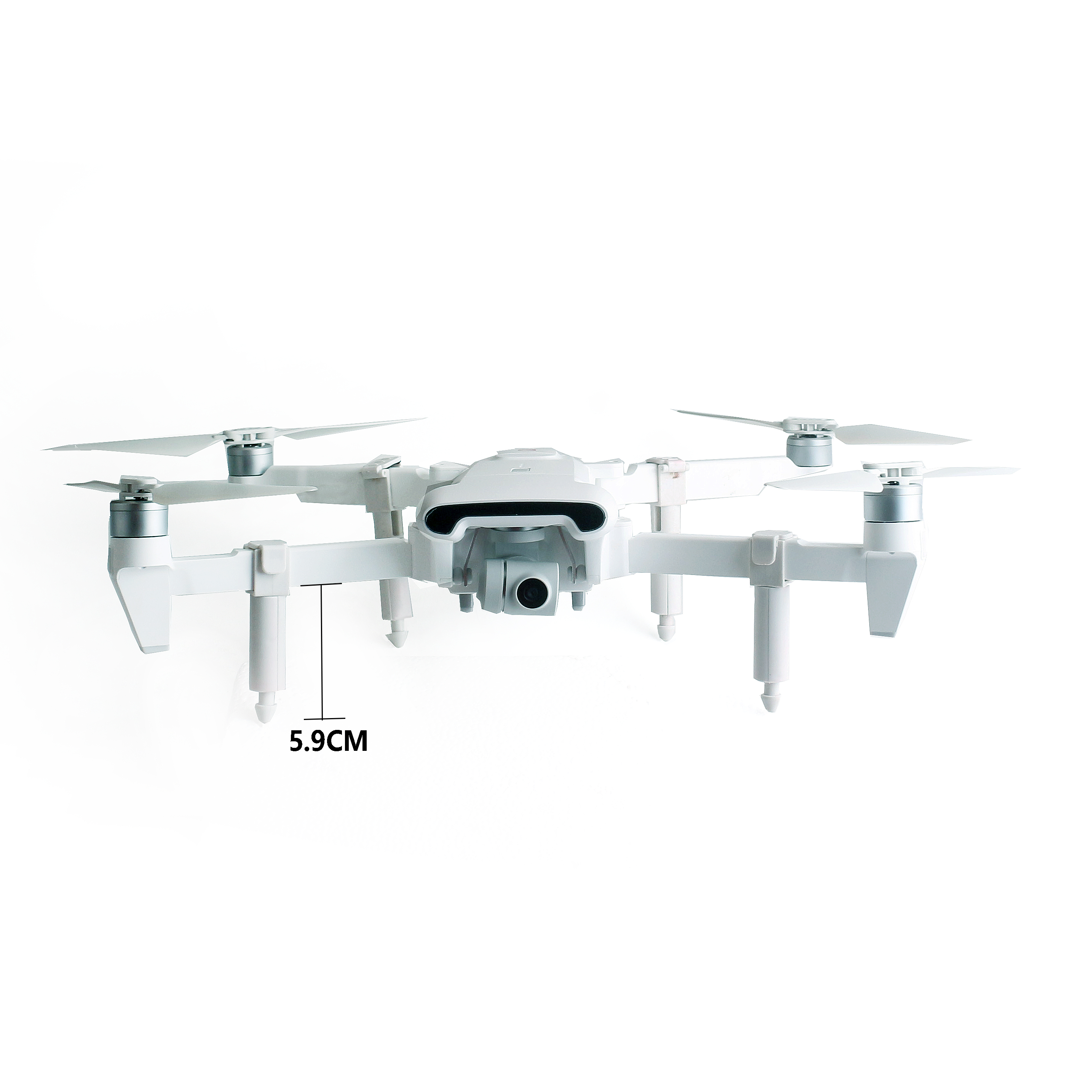FIMI X8SE 2019/ 2020 Version Camera Drone RC Helicopter Increased Tripod with Spring Hidden Mode Parts white