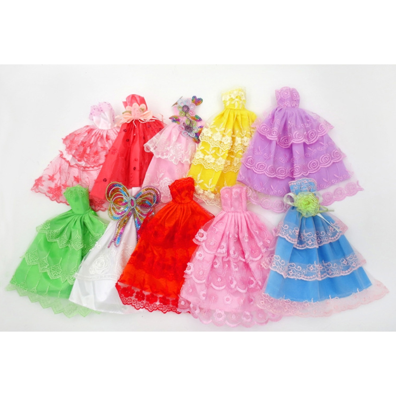 Fashion Party Dress Princess Gown Clothes Outfit for 11in doll (Style Random)