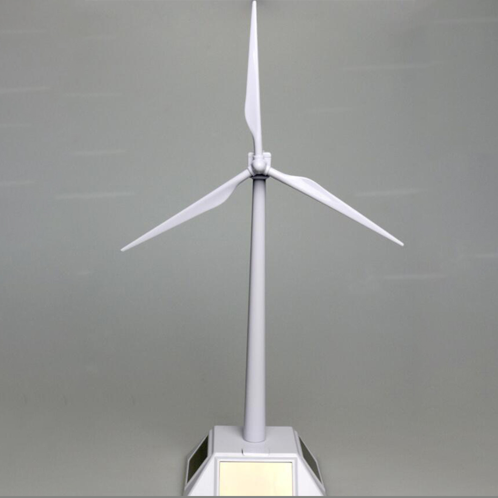 1PC Solar Windmill Rotary Machine Puzzle DIY Assembled Toys Environmental Science and Education Experimental Ornaments white