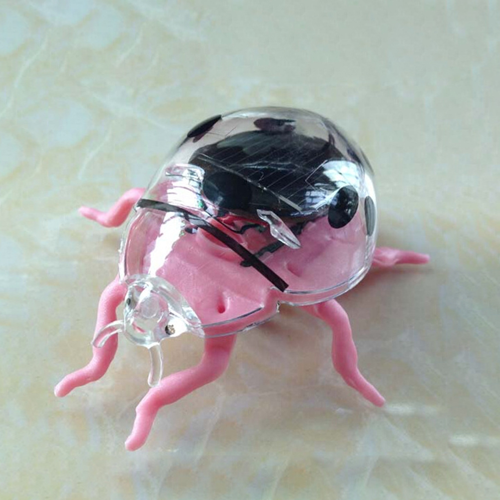 Children Solar Bionic Toy Seven Star Ladybug Mini Tricky Puzzle Toy Pink