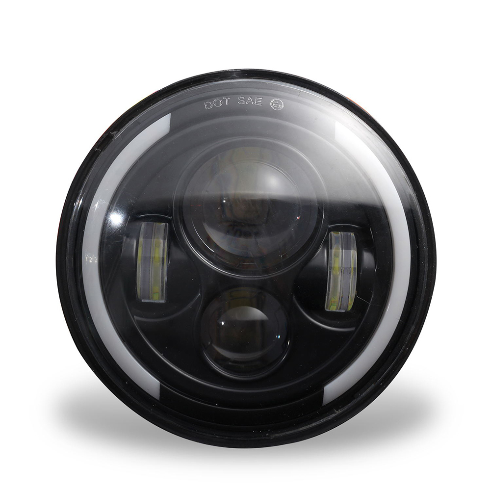 150W 7'' Round LED Headlight with High Low Beam 15000LM DRL Turn Signal Light Warm yellow_4300K