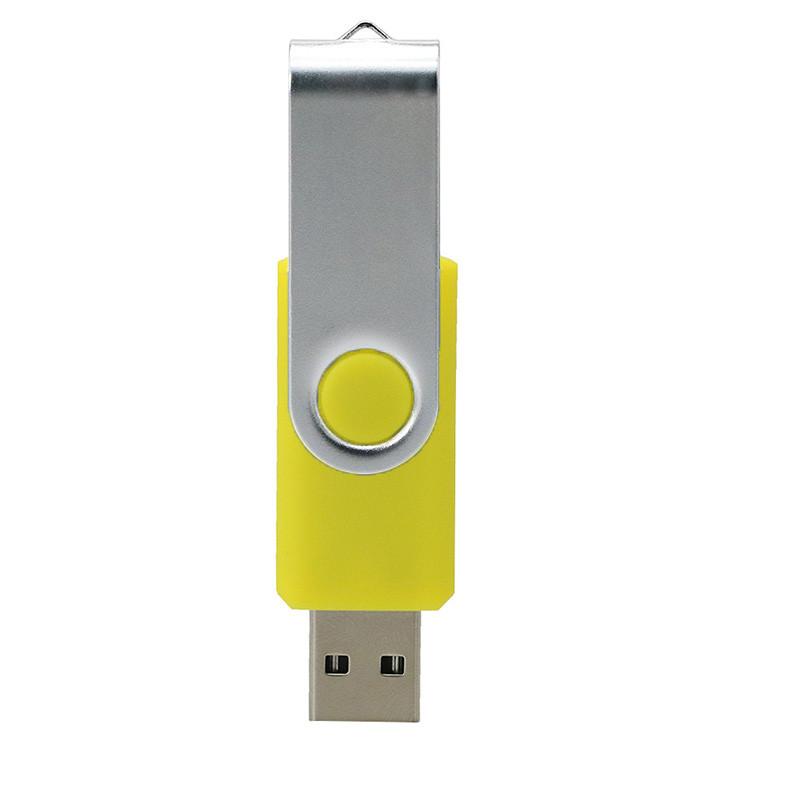 Swivel Usb 2 .0 1.0  Flash Drive Concise Portable U Disk L18 High Speed U Disk yellow_32G