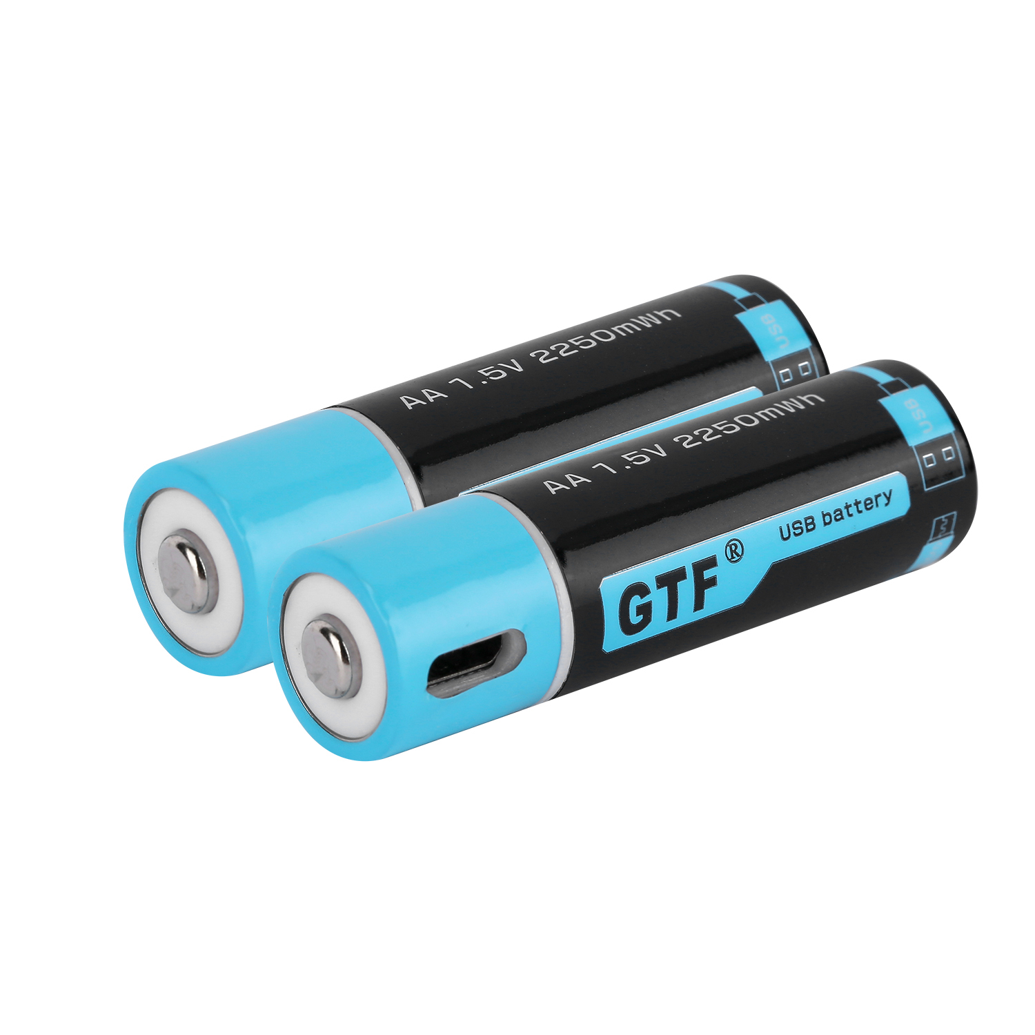 USB Rechargeable AA Battery 1500mAh 1.5v Quick Charging Lithium Battery 2PCS