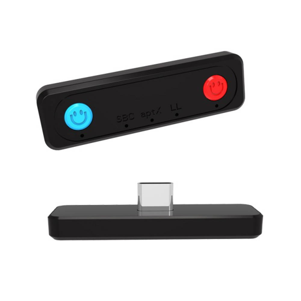 ABS Bluetooth 5.0 Adapters Transmitter APTX Low Latency Audio Adapter for PS4/PC/Switch/Lite black