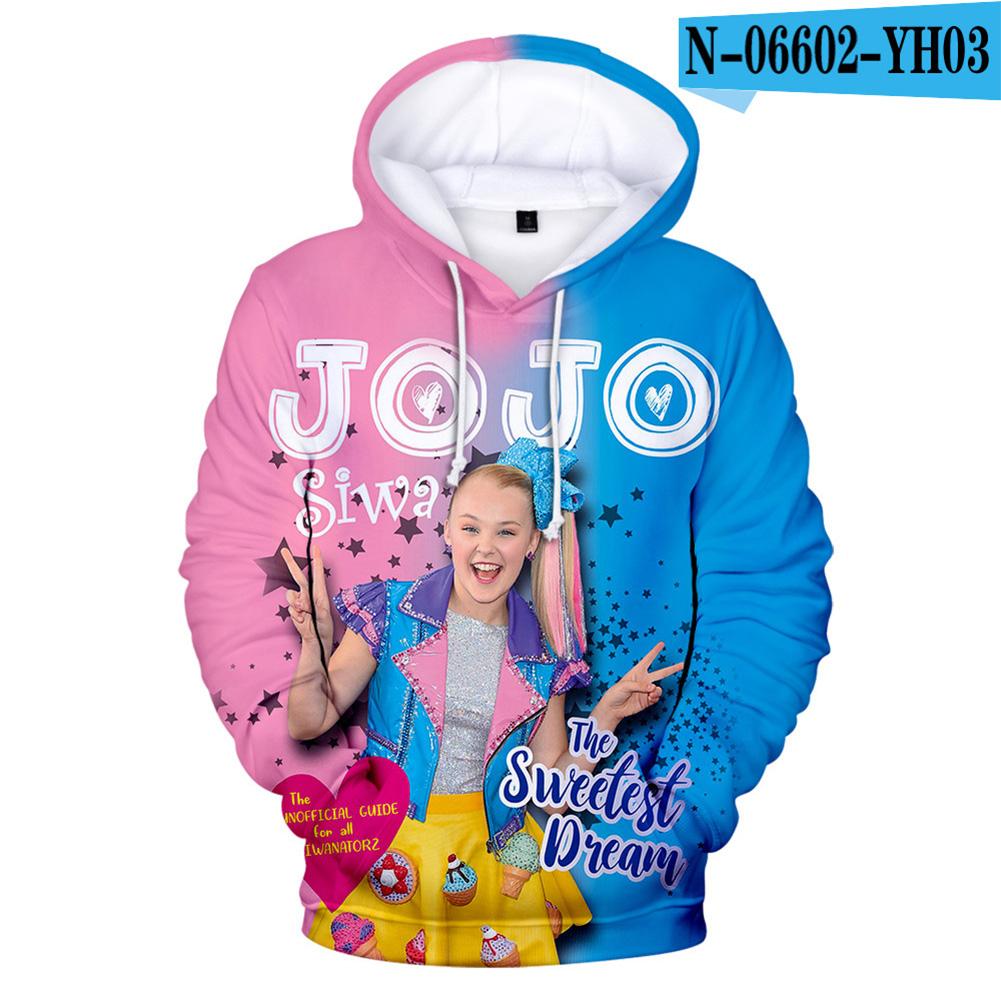Men Women Hoodie Sweatshirt JOJO SIWA 3D Printing Loose Autumn Winter Pullover Tops A_XL