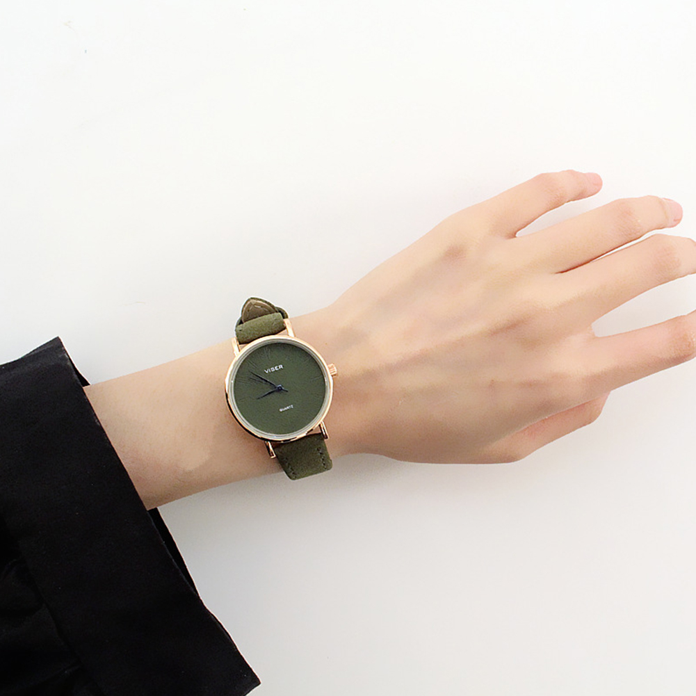 [Indonesia Direct] Simple Casual All-match Quartz Watch for Couples Confidante Green S
