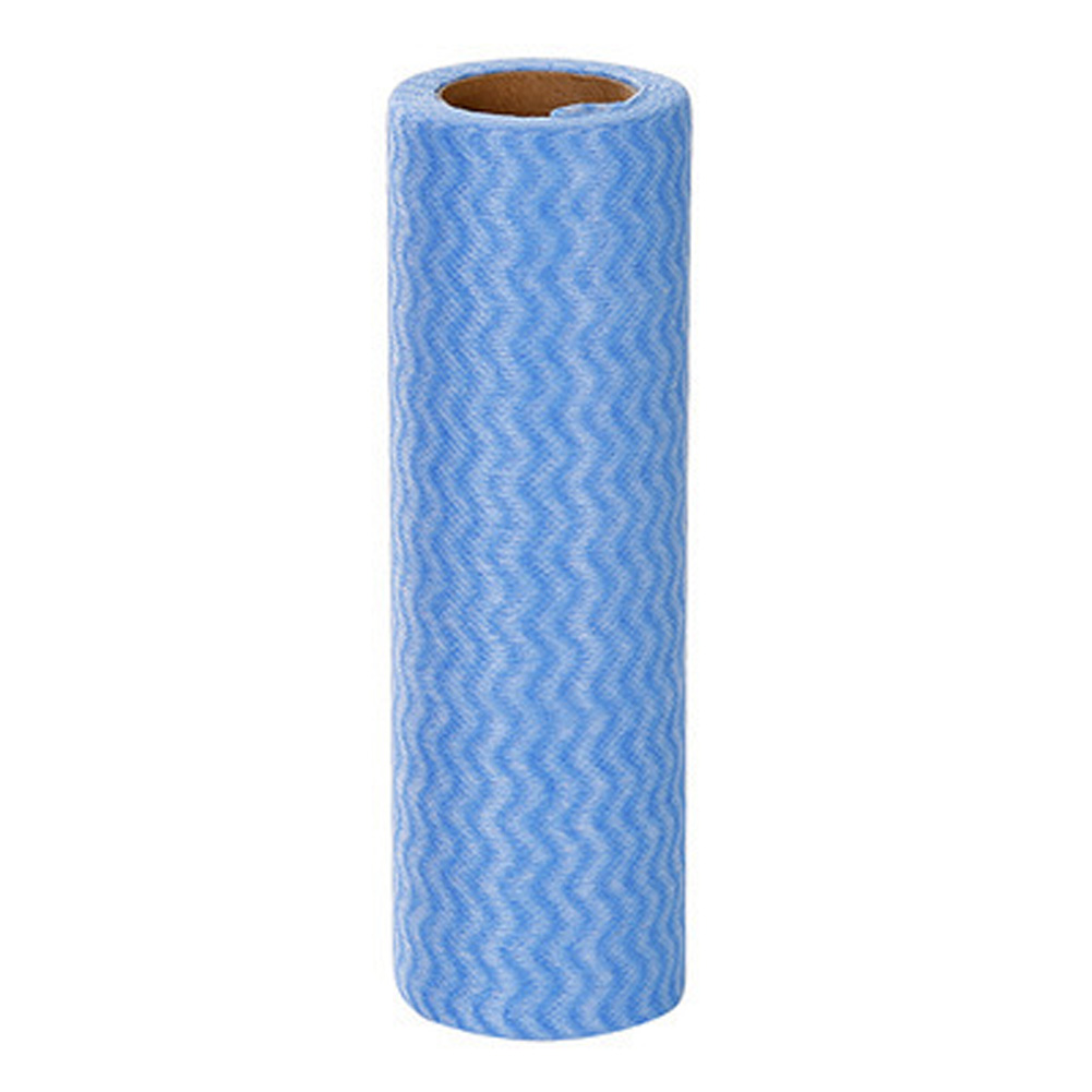 25 Sheets/Roll Disposable Cleaning Cloth for Kitchen Non-woven Dish Towel blue