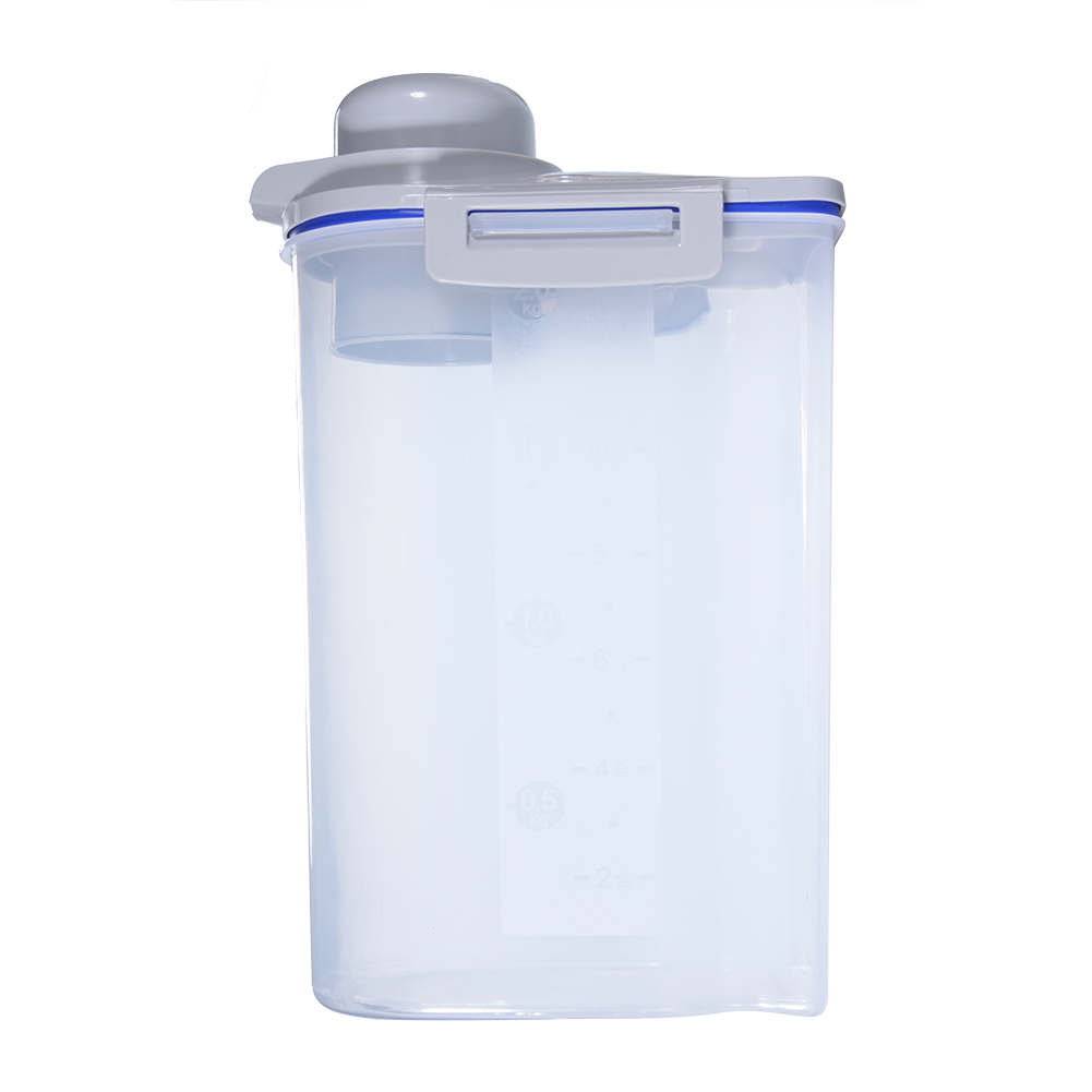 [EU Direct] Kitchen Plastic Food Grain Cereal Storage Box Containers Transparent Sealed Tank