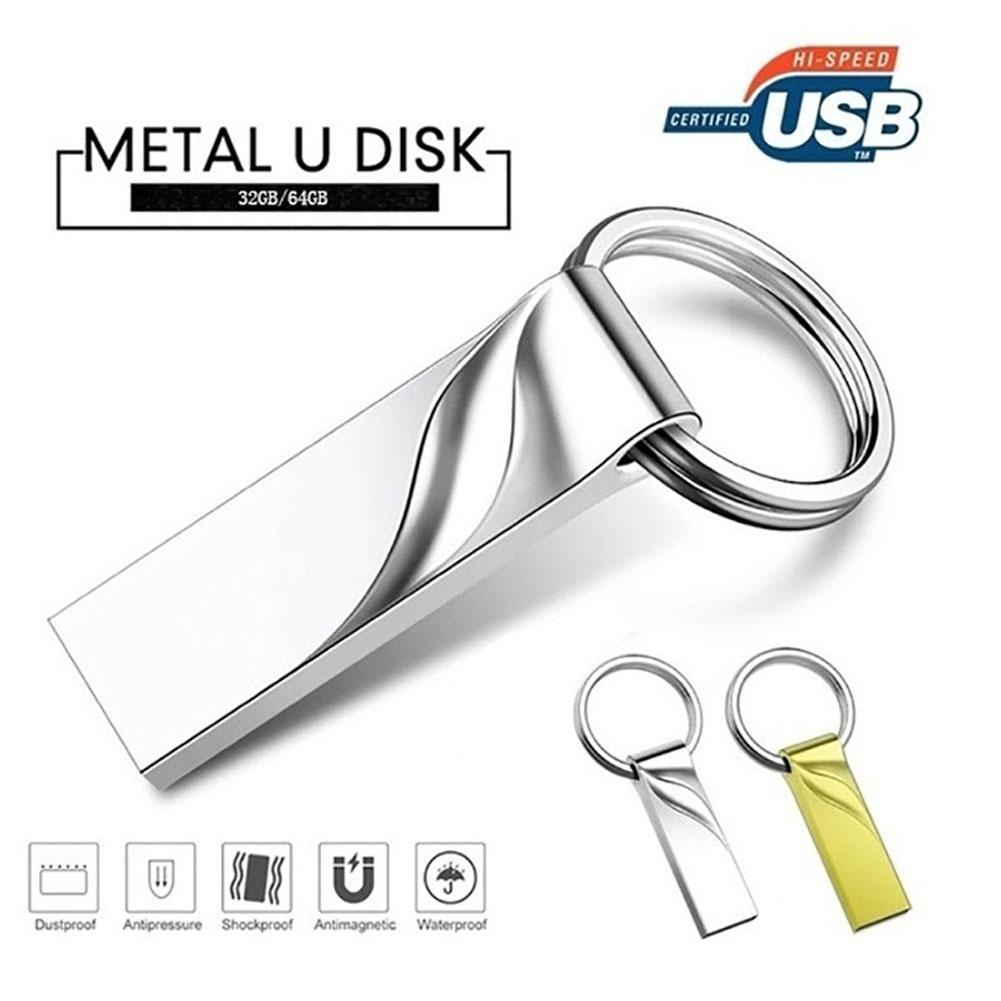 USB 2.0 Memory Waterproof USB Flash Drive 128GB Pendrive 64GB 16GB 8GB 4GB 32GB Gold
