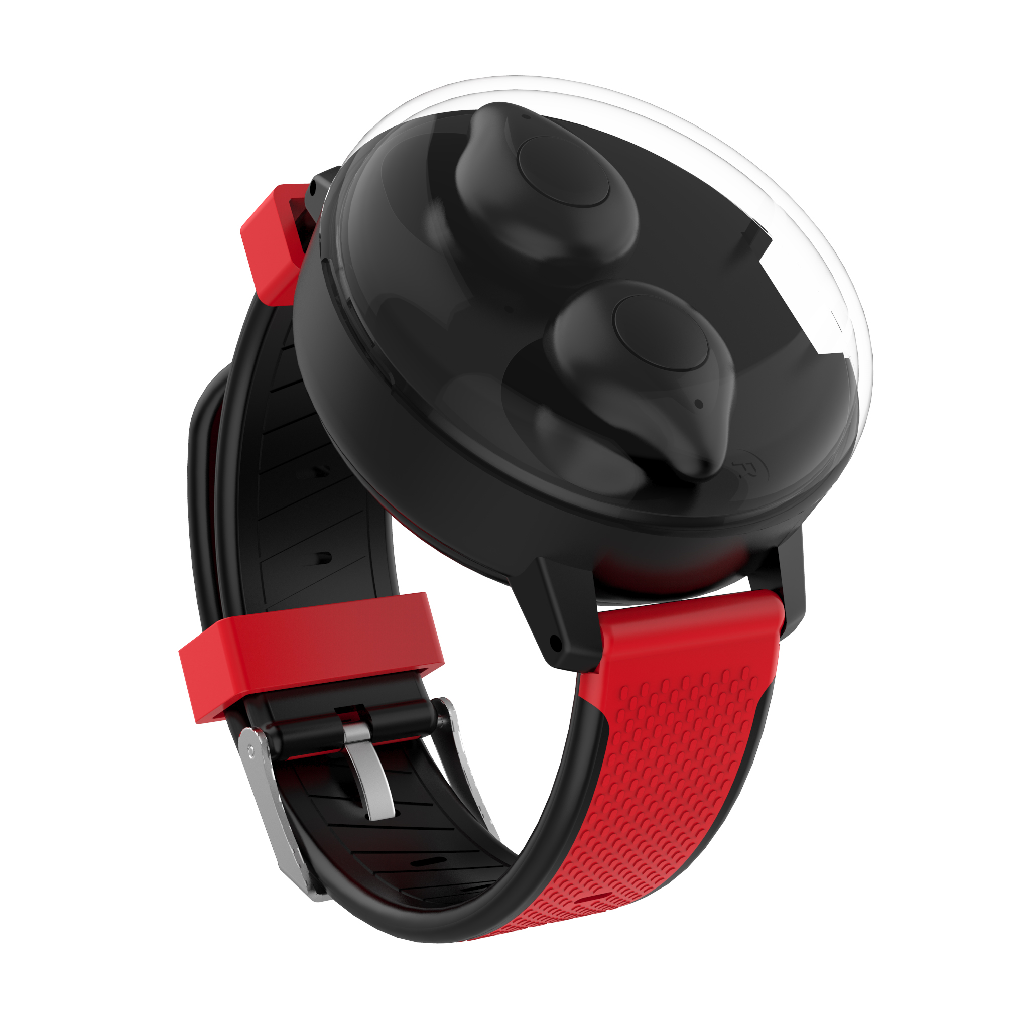 Bluetooth TWS Stereo Wireless Headphones 5.0 Charging Headset for Running red