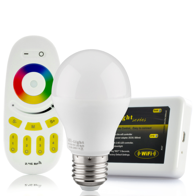 Wi-Fi LED Light Bulb w/ Remote Control