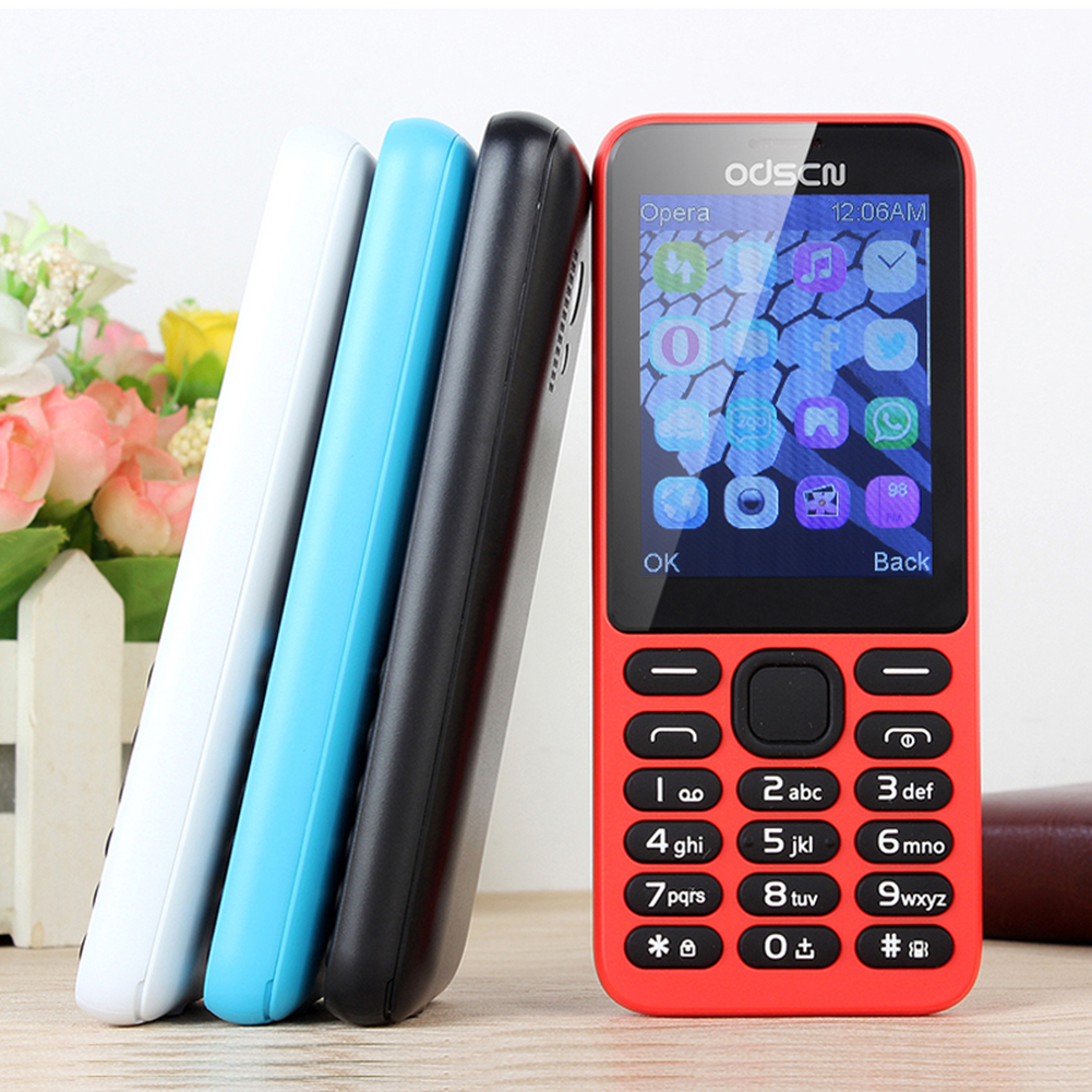 215 Mini Mobile Phone 2.8 Inch Touch Screen Dual SIM Cards Mobile Phone Blue