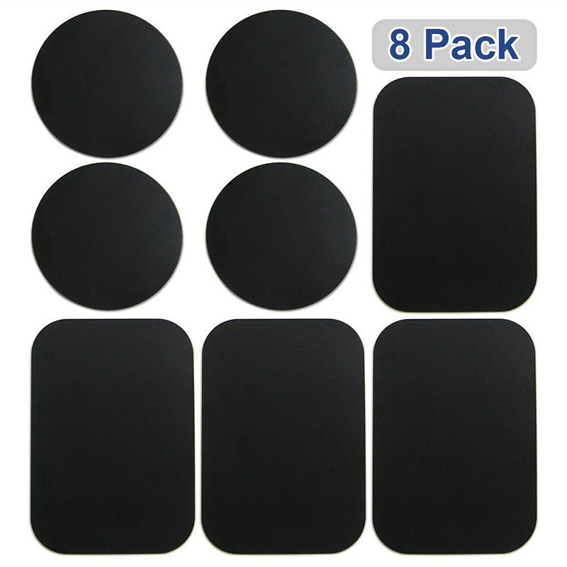 8 Pcs Magnetic Metal Plates Sticker Black