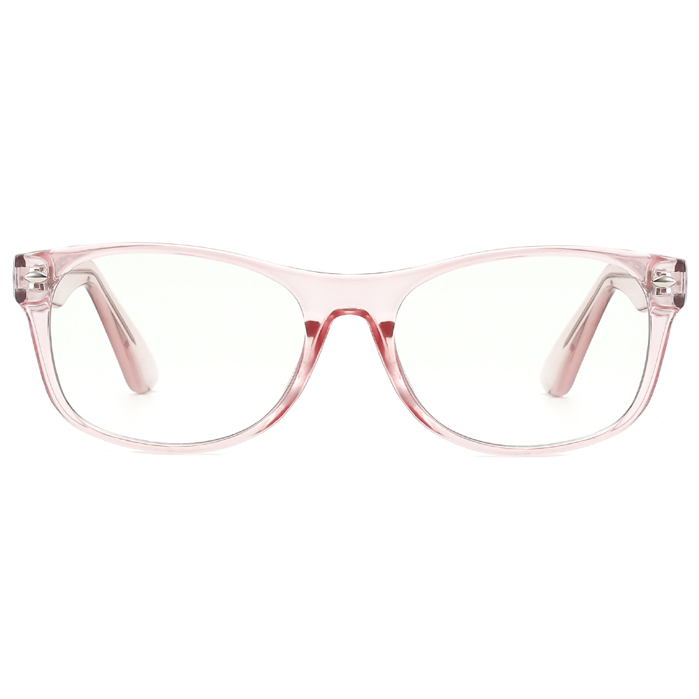 [US Direct] Cyxus Anti Blue Light Computer Glasses for Blocking UV Eye Strain Headache, Reading Eyewear (8065T01, Bright Black) Block Droplets Crystal Pink_M