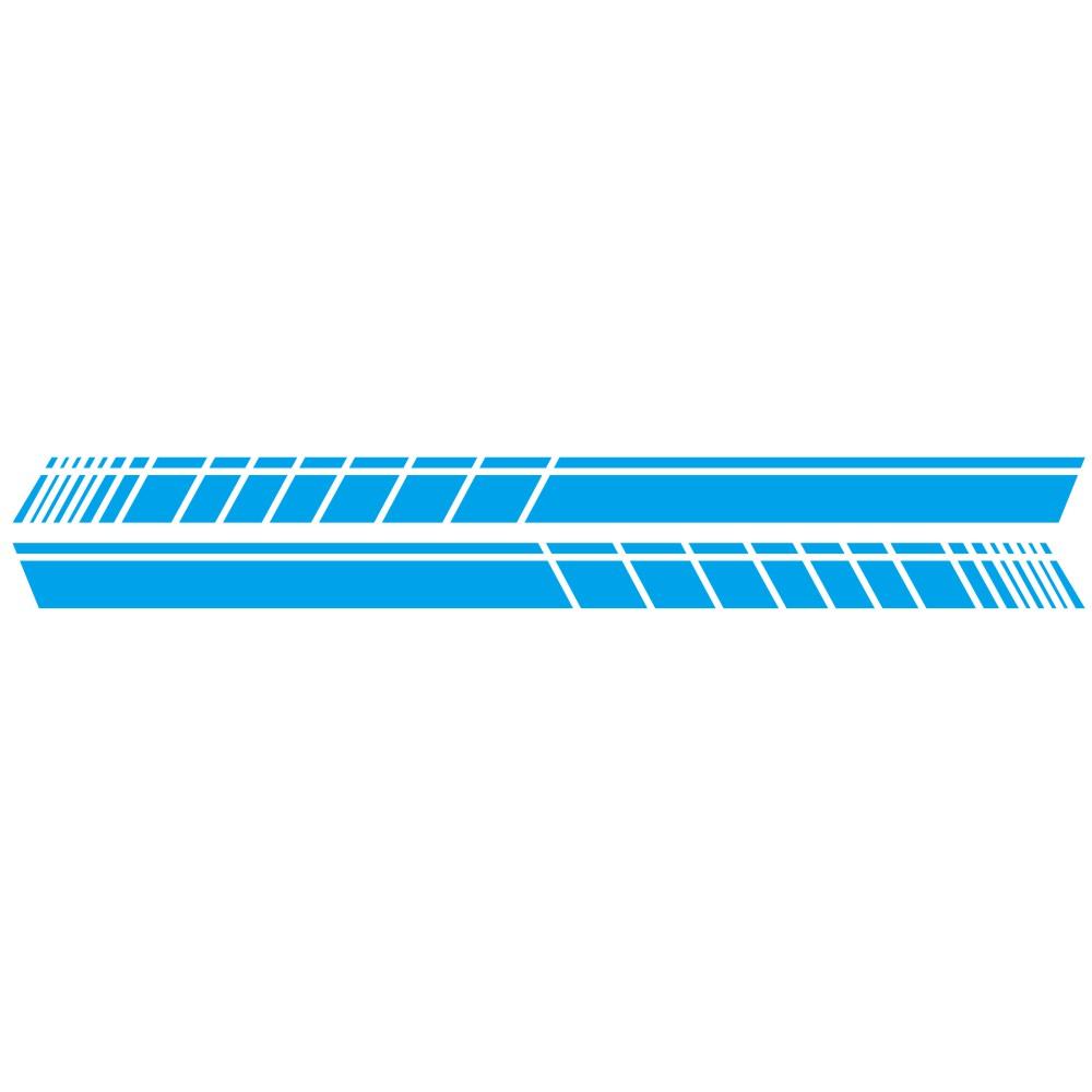 2 Pcs 183 * 11cm Car Stickers Auto Body Vinyl Long Decals Waterproof Striped Stickers Auto Diy Car Sticker Style; blue