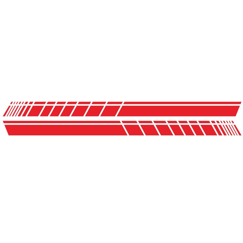 2 Pcs 183 * 11cm Car Stickers Auto Body Vinyl Long Decals Waterproof Striped Stickers Auto Diy Car Sticker Style; red