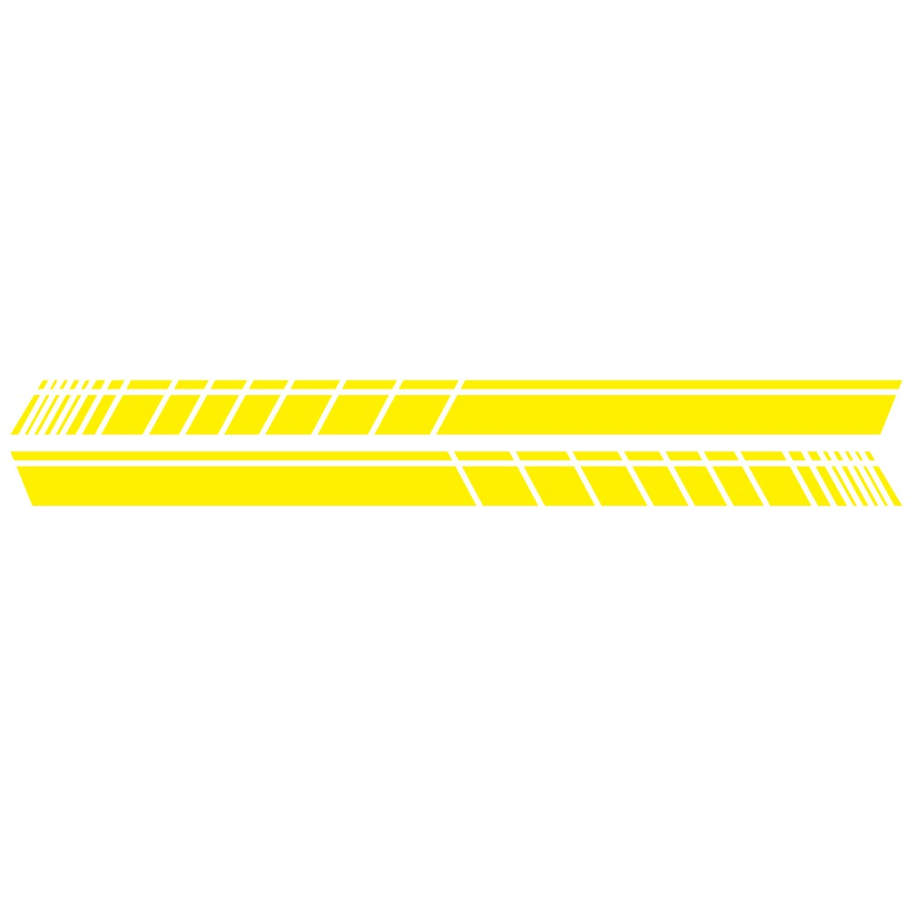 2 Pcs 183 * 11cm Car Stickers Auto Body Vinyl Long Decals Waterproof Striped Stickers Auto Diy Car Sticker Style; yellow