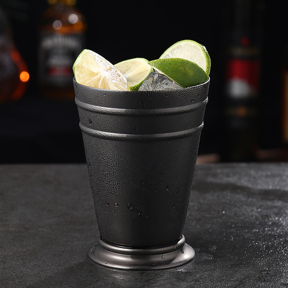 Stainless Steel Mule Mug Metal Cocktail Cup for Bar Party KTV Supplies black