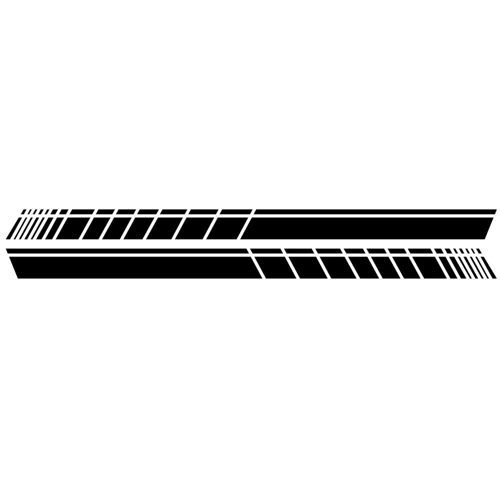 2 Pcs 183 * 11cm Car Stickers Auto Body Vinyl Long Decals Waterproof Striped Stickers Auto Diy Car Sticker Style; black
