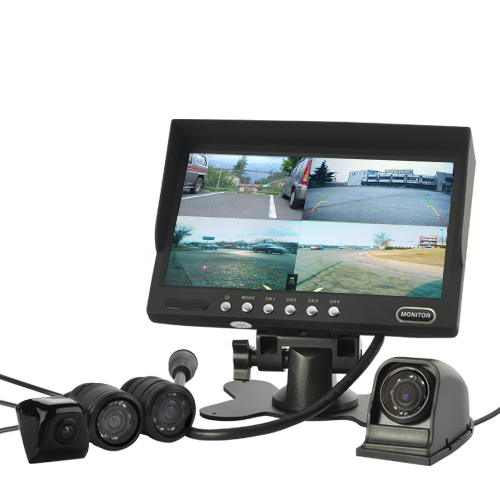 7 Inch Monitor and 4 Camera Car Rearview Set