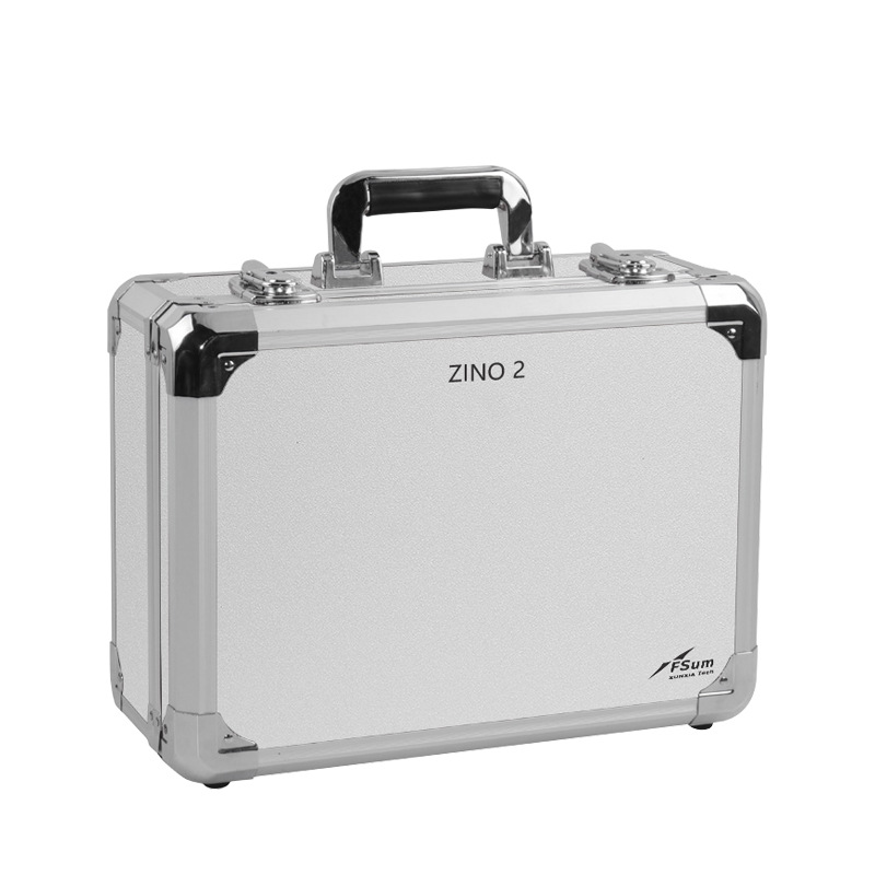 Carrying Case Waterproof Aluminum Hard Travel Protect Case for Hubsan ZINO 2  zino 2 silver case