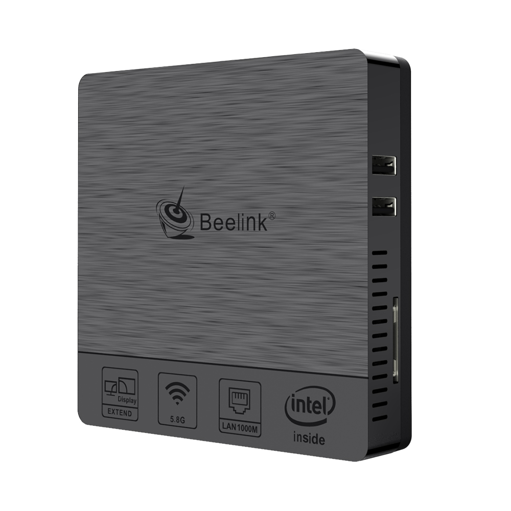 Beelink BT3 Pro Mini PC WINDOWS 4GB RAM + 64GB ROM Intel Atom X5-Z8350 64Bit Mini PC black_4+64 British Standard