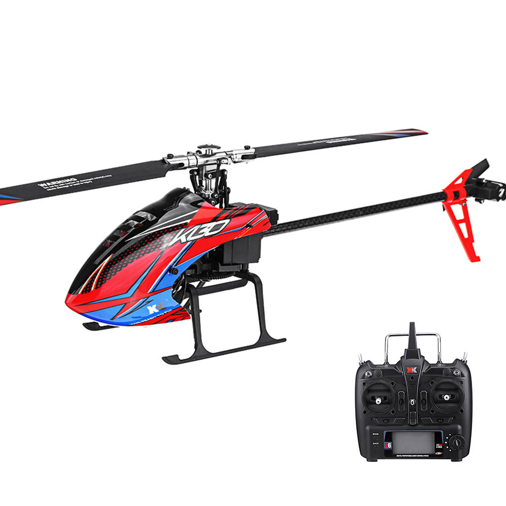 XK K130 2.4G 6CH Brushless 3D6G System Flybarless RC Helicopter RTF Compatible with FUTABA S-FHSS as shown