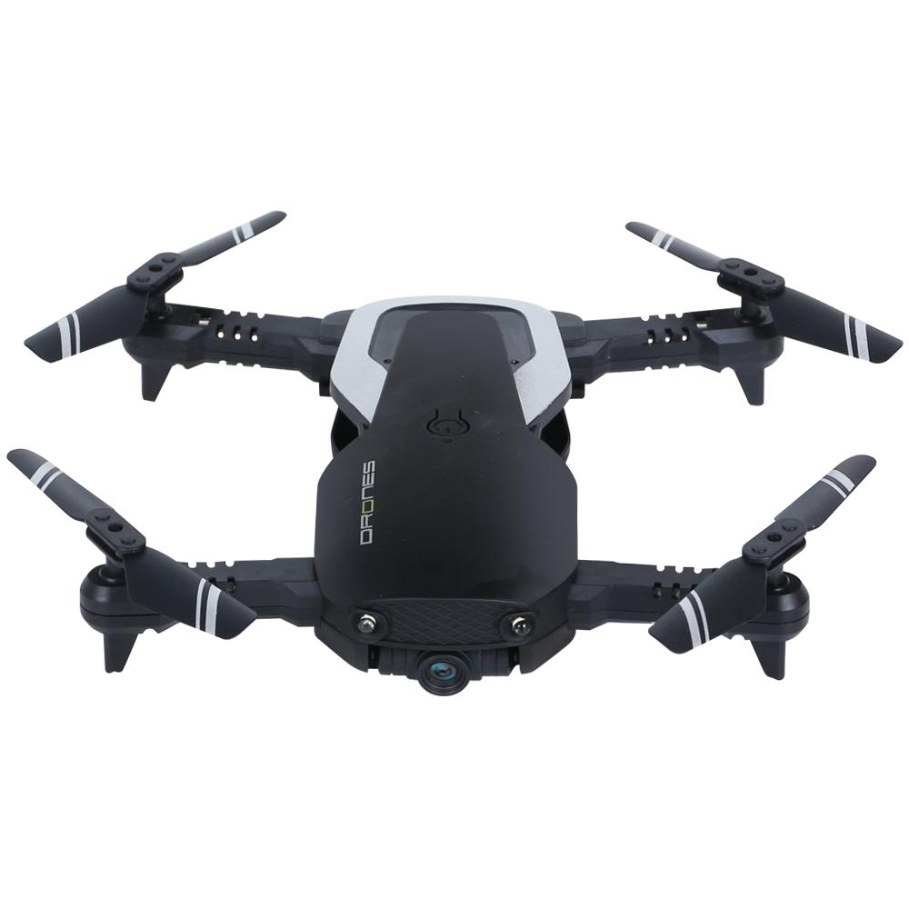 Fixd Aircraft Drone Foldable RC drone 2.4G 4CH 360 Degree Flip 0.3MP/2.0MP HD Camera RC Quadcopter VS E511 E511s Mavic Air E58 2.0MP 1 battery (with optical flow) black