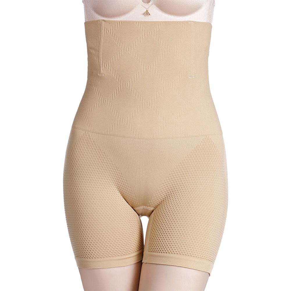 Women  Boxer  Briefs High-waisted Hip-lifting Seamless Postpartum Waist Plus Size Shaping Underwear Apricot_XS/S