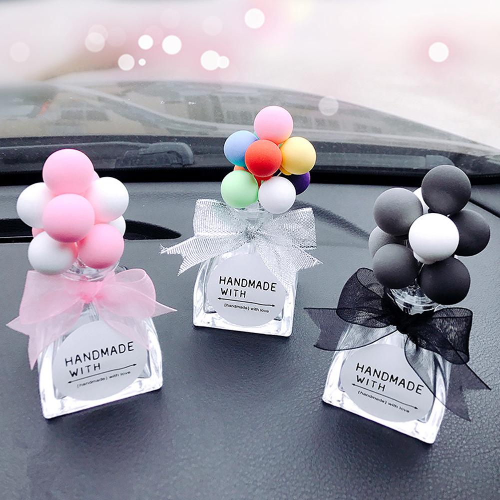 Car Decoration Car Perfume Seat Colorful Cartoon Cute Creative Glass Bottle Car Interior Decoration gray